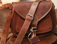 VINTAGE RARE HANDMADE DESIGNER REAL LEATHER SATCHEL SADDLE BAG RETRO RUSTIC