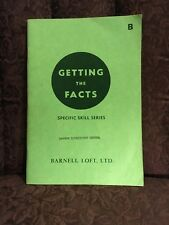 1965 Getting The Facts Specific Skill Series Teacher's Book