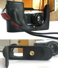 New Genuine Real Cow Leather Half Case Bag For  Leica Q Typ116 Camera  Black