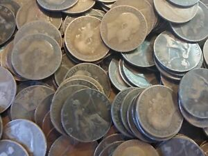 100KG MIXED OLD ENGLISH PENNIES FROM VICTORIA TO QE2