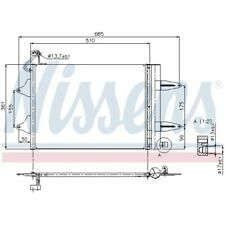 1 Condenseur, climatisation NISSENS 94628 convient à SEAT SKODA VW