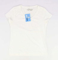 George White Cotton Womens T-Shirt Size 12 (Regular)