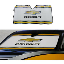 1afe1e1b Chevy Chevrolet Bowtie Elite Series Car Truck Windshield Folding Front Sun  Shade