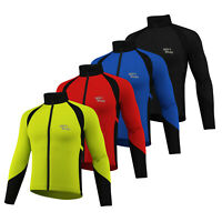 Cycling Jacket Wind stopper Winter Thermal Fleece Windproof Long Sleeve Coat NEW