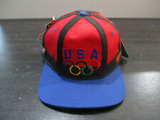 NEW VINTAGE Starter Olympics Hat Cap Red Blue USA Atlanta Summer Games Mens 90s
