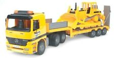 Bruder Toys SCANIA R-series Low loader Truck w/ CAT Bulldozer
