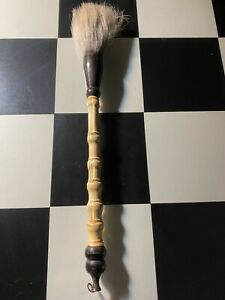 """Vintage Old Antique Calligraphy Brush - Bamboo W Natural Bristles 15 """""""