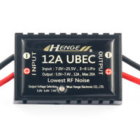 HENGE 12A UBEC Mode BEC Voltage Stabilizer Output 5V / 6V / 7.4V 12A Max 20A