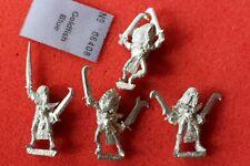 Games Workshop Warhammer Dark Elves Witch Elf 4x Metal Figures Marauder Army OOP
