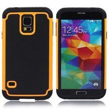 "Samsung Galaxy S5 Hybrid Dual Hard Armour Tough Shell Silicone Cover Case 5.1"""