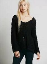NWT Free People Black Up The Ladder Polar Bear Pullover SZ S Orig $128 Soft