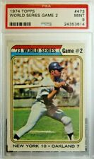 1974 TOPPS WORLD SERIES GAME 2 #473 OAKLAND A'S NEW YORK METS PSA 9 MINT 3296