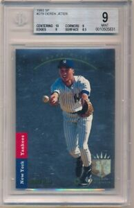 DEREK JETER 1993 SP FOIL #279 RC ROOKIE CARD NEW YORK YANKEES BGS 9 MINT W/ 10
