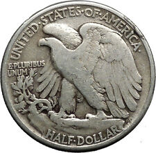 1941 WALKING LIBERTY Half Dollar Bald Eagle United States Silver Coin i44629