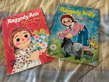 Lot of 2 Raggedy Ann & Andy Books Vintage Retro 1976 Large Golden Books