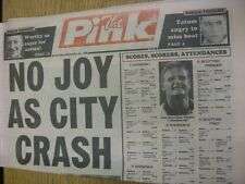 22/09/1990 Coventry Evening Telegraph The Pink: Main Headline Reads: No Joy As C