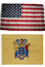 Wholesale Combo Lot of 3x5 USA Flag & State of New Jersey 3x5 2 Flags Banner