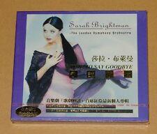 Sarah Brightman Time To Say Goodbye Taiwan 24K Gold CD Promo Postcards RARE New