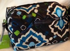 Vera Bradley Small Puffy Cosmetic Ink Blue, Small Cosmetic, Makeup Bag, PACKAGED