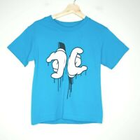 DC Skateboarding Hand Signals Womens Blue Graphic T-Shirt Size Small