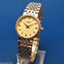 Quartz (Battery) Adult Rotary Solid Gold Case Wristwatches