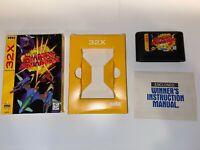 Shadow Squadron (Sega 32X) Box and Game - US Seller