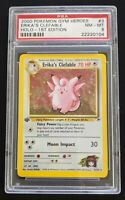 2000 Pokemon Gym Heroes 1st Edition Holo Erika's Clefable #3/132 PSA 8 MINT