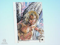 2013 Fleer Marvel Retro Angel Sketch Card Jun Lofamia X-Men Original Art 1/1