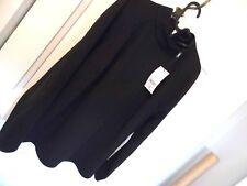 Señoras siguiente túnica negra, talla 18, Manga Larga Cuello Redondo Nuevo + Etiquetas.