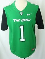 NEW Marshall Thundering The Herd College Green Nike 1 Football Jersey Men's L