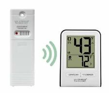 La Crosse Wireless Remote Thermometer White In and Out Temp Farenheit or Celsius