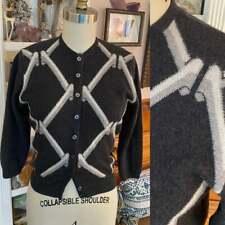 New listing Vtg Cashmere Saks Fifth Avenue by Caerlee Scotland Cardigan Deco S M