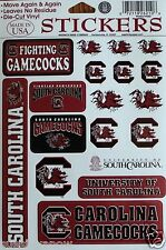 18 Gamecocks Stickers University of South Carolina Decal NCAA College Football