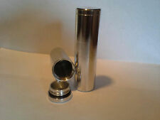 cigarette tube, pill case, waterproof container stash can stash tube 1 x 3 1/4