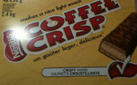 48 NESTLE COFFEE CRISP FULL SIZE CHOCOLATE BARS - MADE & SHIPPED FROM CANADA