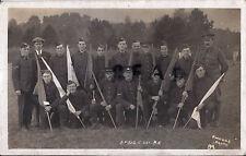 WW1 soldat gruppe fahrdienstleiter Royal Ingenieure Signal-unternehmen RE