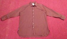 Pink Mens Size 17/34 Red & Black 100% Cotton Dress Shirt