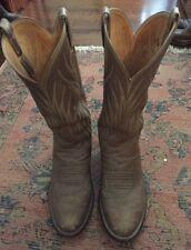 VINTAGE Men's Cowboy BOOTS Tan Gray Color Size 9.5 Farm Grunge Leather