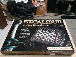 Excalibur Deluxe Electronic Chess Game 901E-4 Teach Mode +73 Level