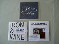 IRON AND WINE job lot of 3 promo CDs Call It Dreaming No Way Out Of Here