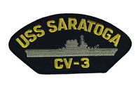 USS SARATOGA CV-3 PATCH USN NAVY SHIP LEXINGTON CLASS CARRIER SARA MARU SISTER