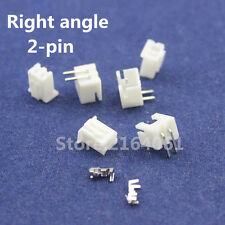 50 sets 2pin Right angle 2.54mm Terminal Housing Pin Header Connector Wire XH-2P