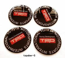 NEW JDM 65mm TRD Emblem Wheel Hub Caps Sticker Center Cover Racing Sport