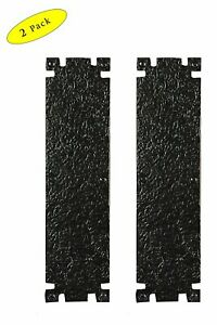 Handmade Victorian Style Gate/Door Push Plate, Black Powder Coated, 2-Pack