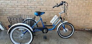 "Mission Trilogy Electric Trike -Blue/Grey - 15"" Frame - 48 hours delivery"