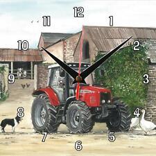No.25 New Massey Ferguson tractor Sue Podbery Wall clock, handmade gift present