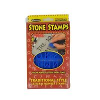 Arts & Craft Milestones 40 Traditional Stone Letter & Number Stamps