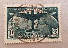 FRANCE N°321.Traversée de l'atlantique oblitéré, Cachet rond du 13/1/37.Bel état