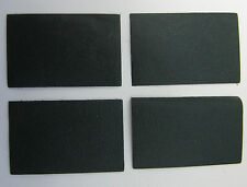 4 MORCEAUX CUIR DE VEAU GRAIN CHEVRE VERT EMPIRE 8.50 x 5.50 cm 2° CHOIX