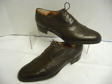 GUCCI Vtg Brown Wingtips 9.5M / 42.5M Leather Oxfords Italy Brogue 081/240/1343